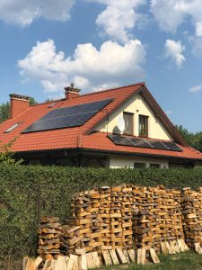 przykład realizacji paneli fotowoltaicznych- Optima Energy